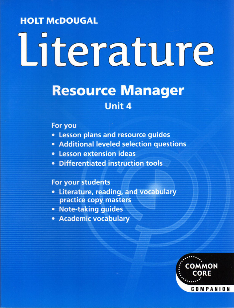 Image 0 of Holt McDougal Literature Grade 6 Common Core Resource Manager Unit 4