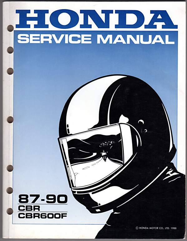 Image 0 of Honda Service Manual 87-90 CBR CBR600F