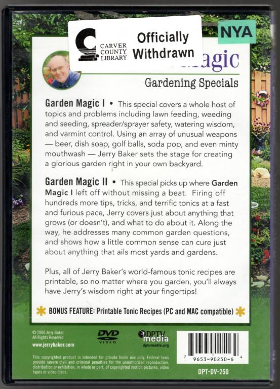 Image 1 of Jerry Baker: Gardening Magic 1 & 2