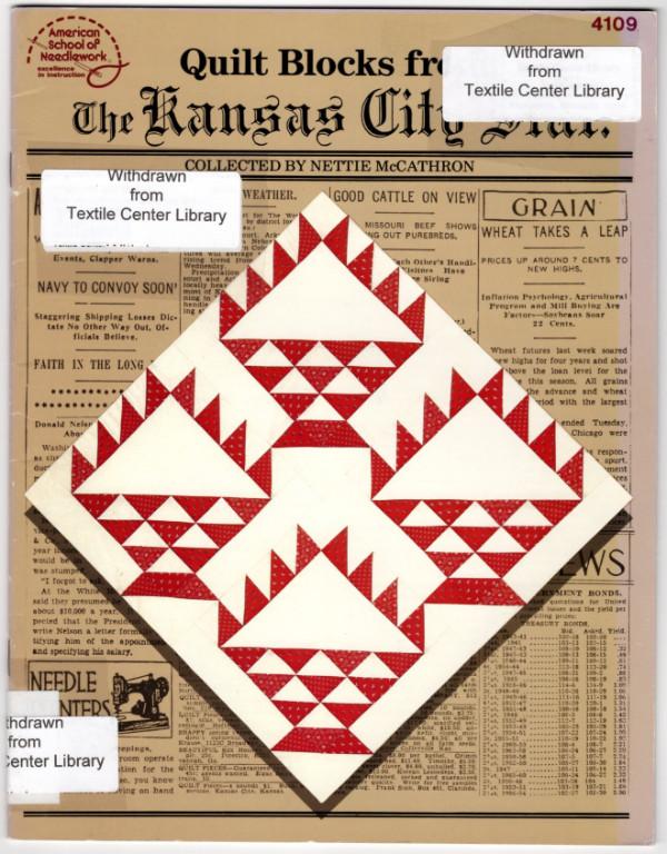 Image 0 of Quilt blocks from the Kansas City Star (American School of Needlework)