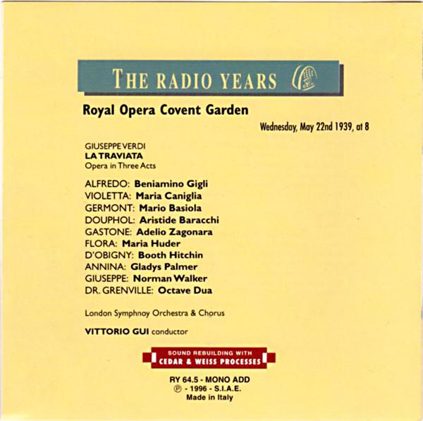 Image 1 of The Radio Years: Verdi's Opera La Traviata - Royal Opera Covent Garden, Monday,