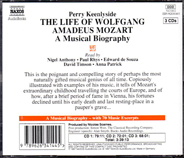 Image 1 of The Life of Wolfgang Amadeas Mozart (Biography)