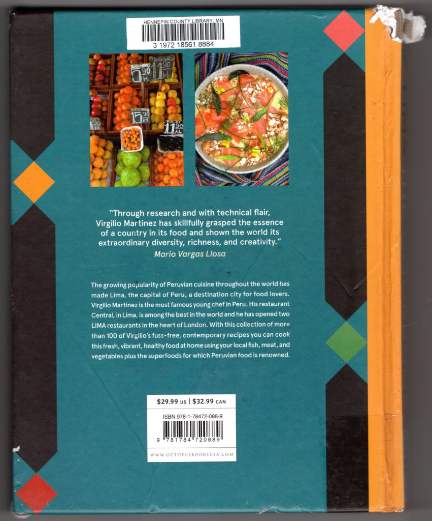 Image 1 of LIMA cookbook: Peruvian Home Cooking