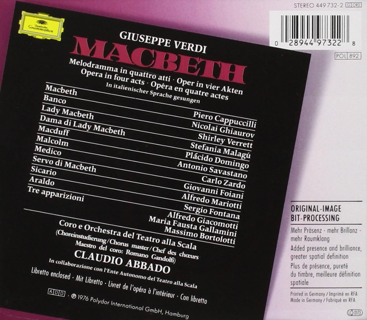 Image 1 of Macbeth (2 CD) (Originals)