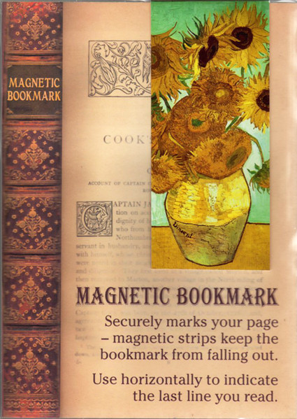 Image 0 of Twelve Sunflowers Magnetic Bookmark