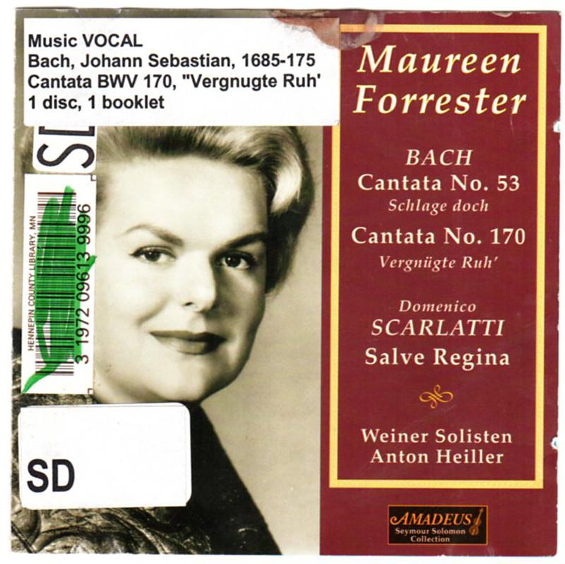Image 0 of Maureen Forrester Sings Bach & Scarlatti