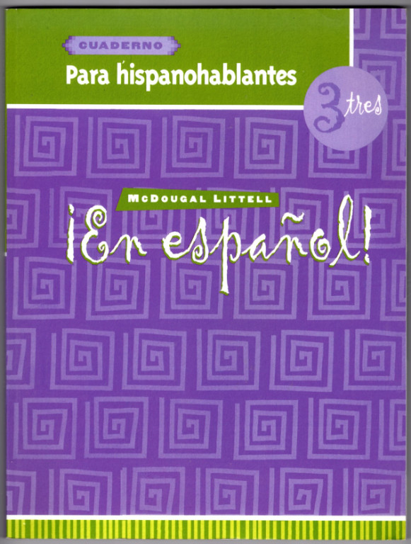 Image 0 of En espanol!: Para hispanohablantes (cuaderno) Level 3 (Spanish Edition)