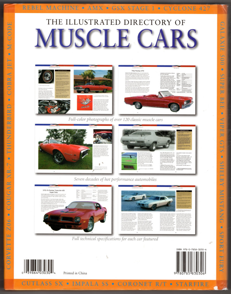 Image 1 of The Illustrated Directory of Muscle Cars