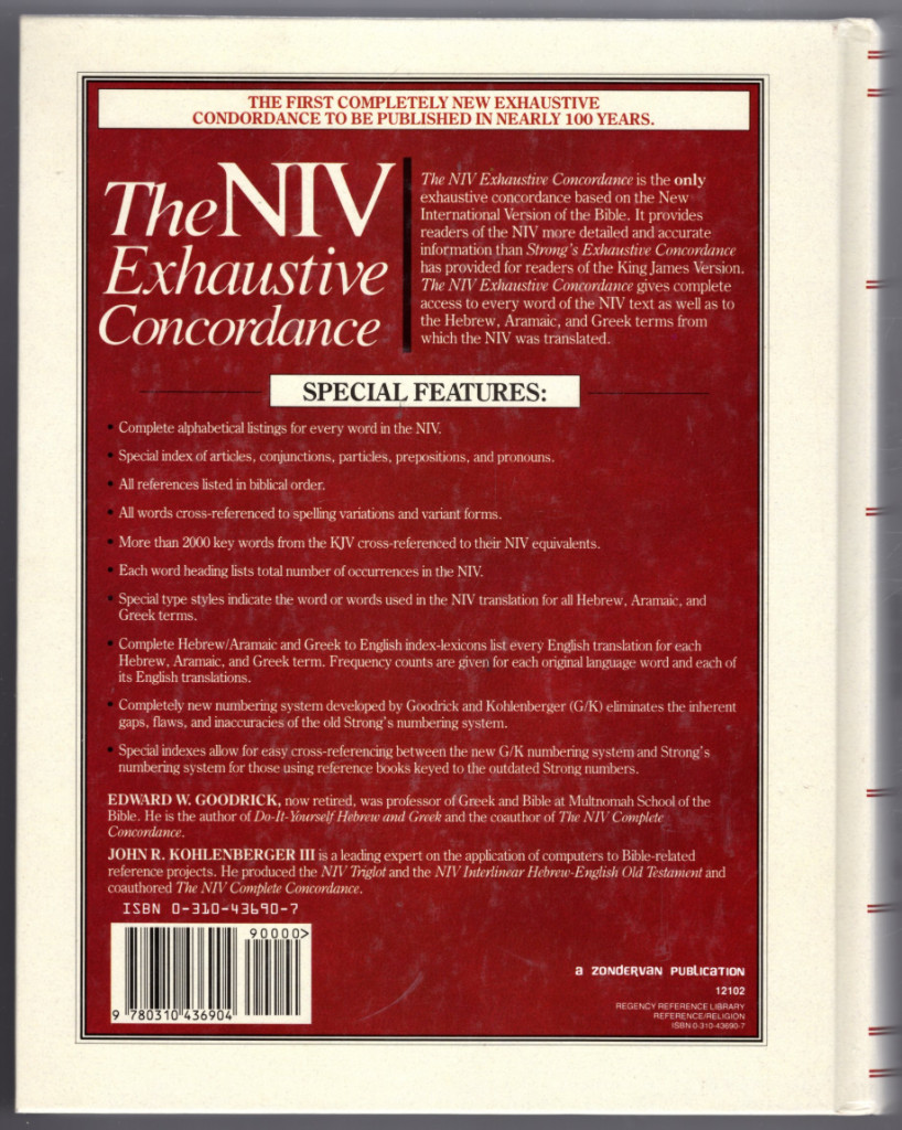 Image 1 of The NIV Exhaustive Concordance ( A Regency Reference Library Book)