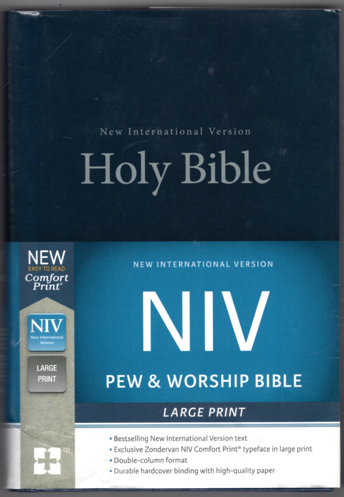 Image 0 of NIV, Pew and Worship Bible, Large Print, Hardcover, Blue, Comfort Print