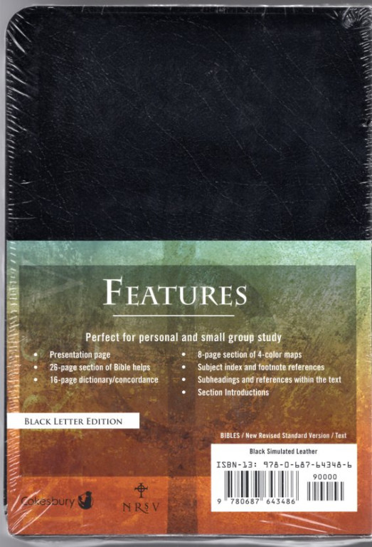 Image 1 of Cokesbury NRSV Gift and Award Bible: Black Simulated Leather
