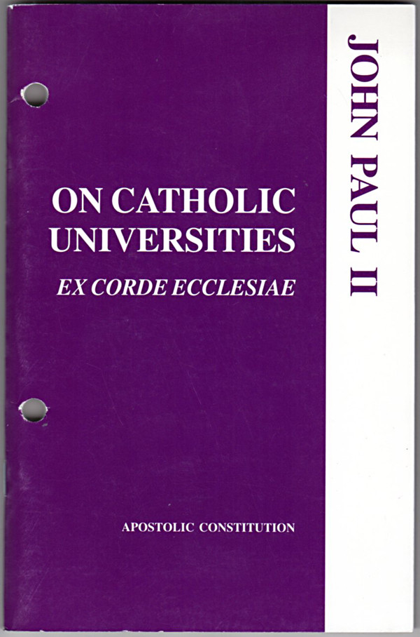 Image 0 of On Catholic Universities: Ex Corde Ecclesiae