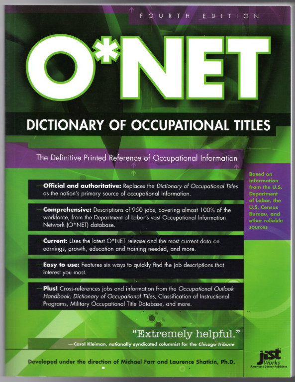 Image 0 of O*NET Dictionary of Occupational Titles