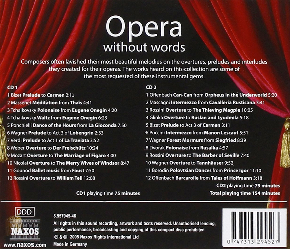 Image 1 of Opera Without Words