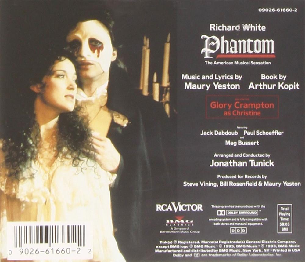 Image 1 of Phantom: The American Musical Sensation (1992 Studio Cast)