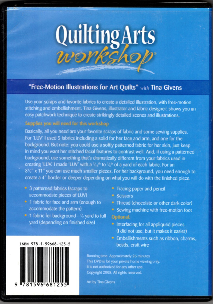 Image 1 of Free-Motion Illustrations for Art Quilts (DVD)