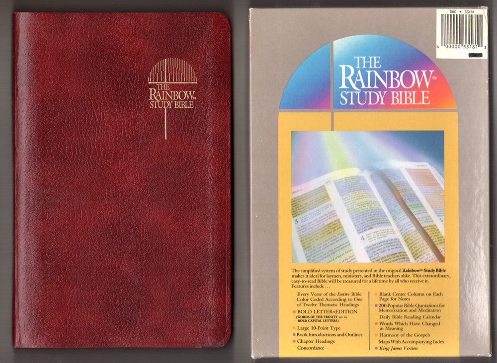 Image 0 of The Rainbow Study Bible: Holy Bible Containing the Old and New Testaments, King