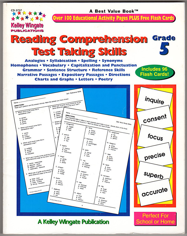 Image 0 of Reading Comprehension Test Taking Skills,  Grade 5