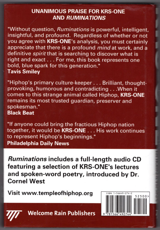 Image 1 of KRS-ONE: Ruminations