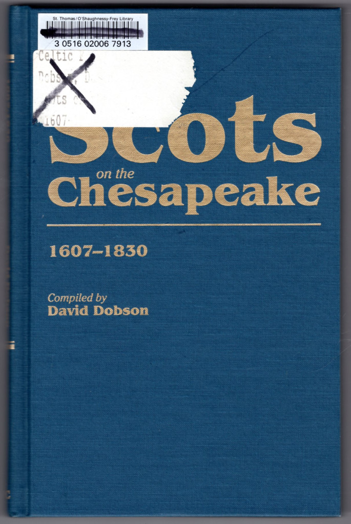 Image 0 of Scots on the Chesapeake, 1607-1830