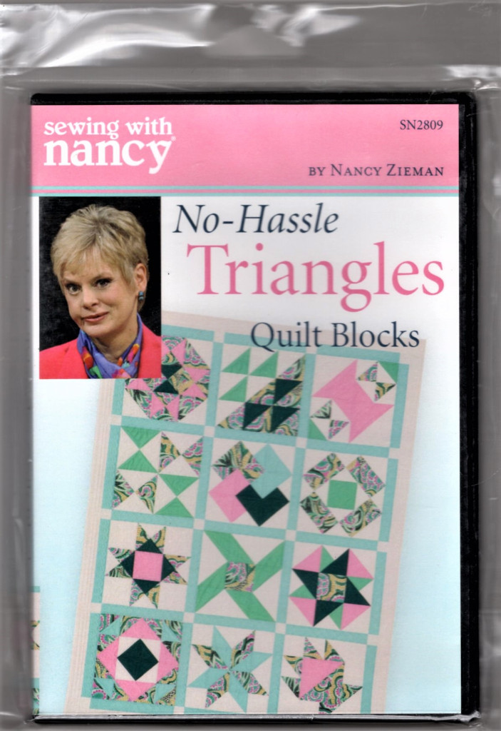 Image 0 of Sewing With Nancy No-Hassle Trianges Quilt Blocks DVD and Book