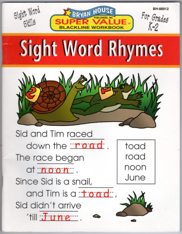 Image 0 of Sight Word Rhymes
