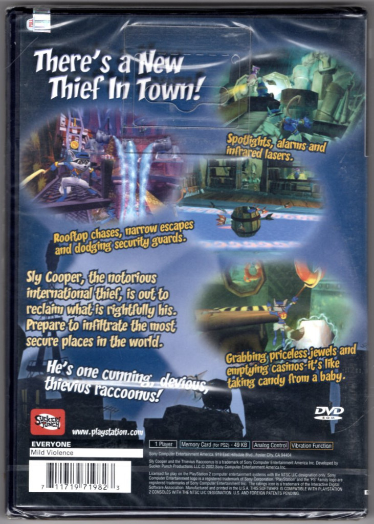 Image 1 of Sly Cooper and the Thievius Raccoonus [PlayStation2]