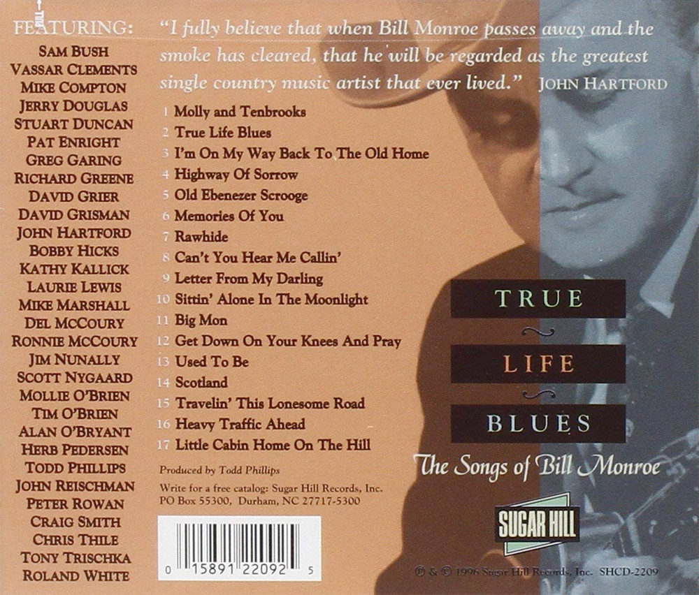 Image 1 of True Life Blues: The Songs Of Bill Monroe