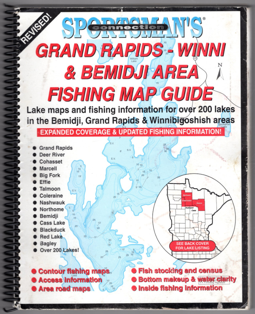 Image 0 of Northern Minnesota Grand Rapids - Winni & Bemidji Area Fishing Map Guide