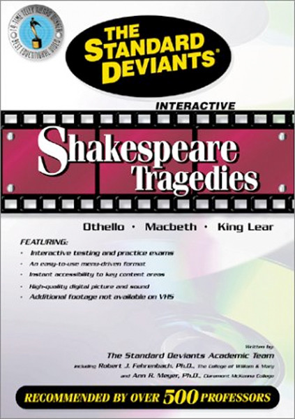 Image 0 of The Standard Deviants - Shakespeare Tragedies - Othello, Macbeth, King Lear