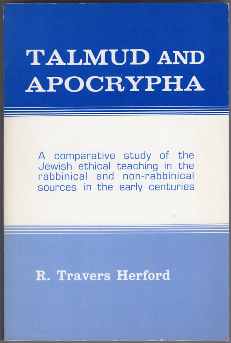 Image 0 of Talmud and Apocrypha: A Comparative Study of the Jewish Ethical Teaching in the