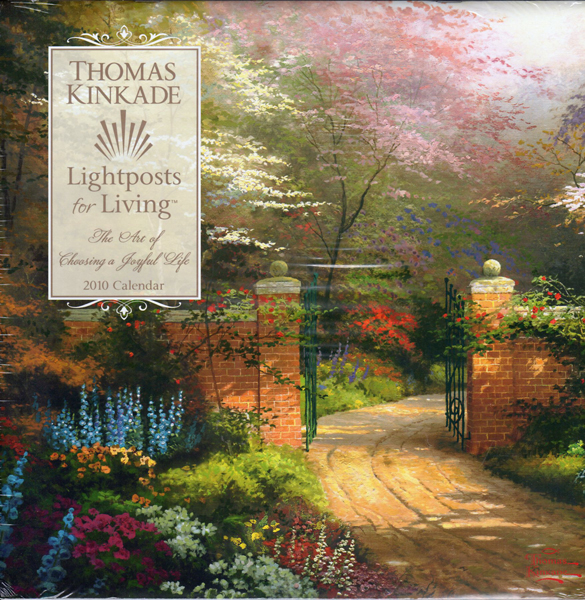 Image 0 of Thomas Kinkade Lightposts for Living: 2010 Wall Calendar