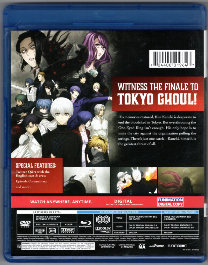 Image 1 of Tokyo Ghoul:re - Part 2 [Blu-ray Discs ONLY]