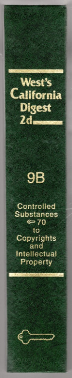 Image 1 of West's California Digest 2d Vol. 9B: Controlled Substances 70 to Copyrights and