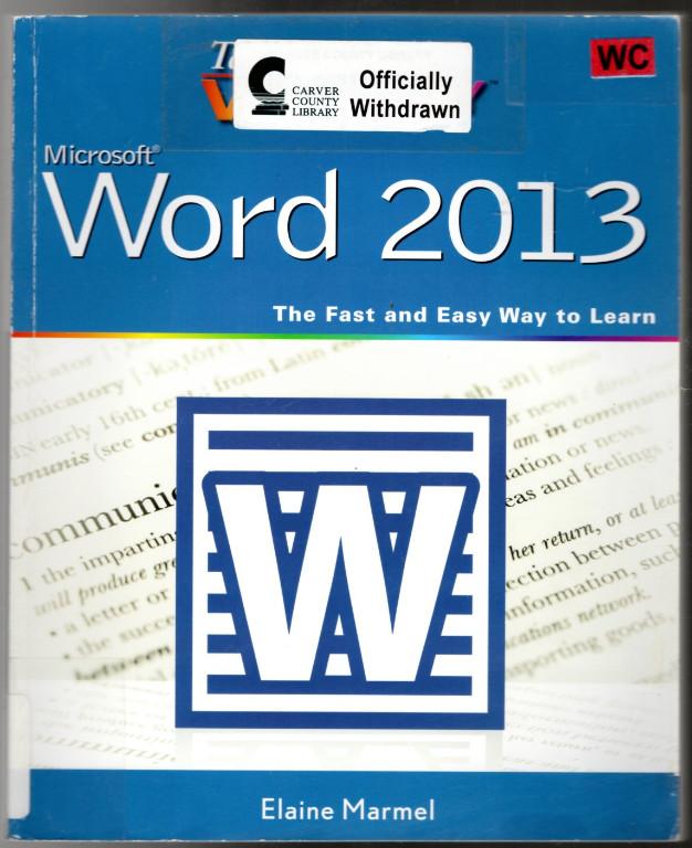 Image 0 of Teach Yourself VISUALLY Word 2013