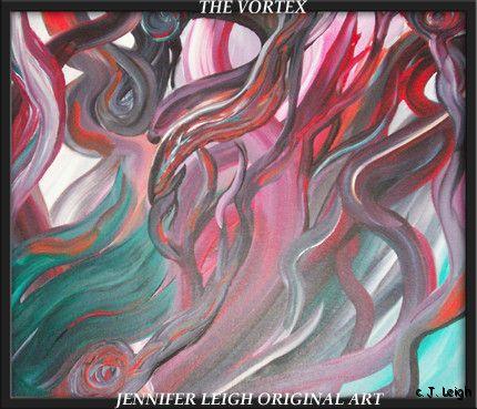 ORIGINAL ABSTRACT MODERN ART PAINTING by JENNIFER LEIGH