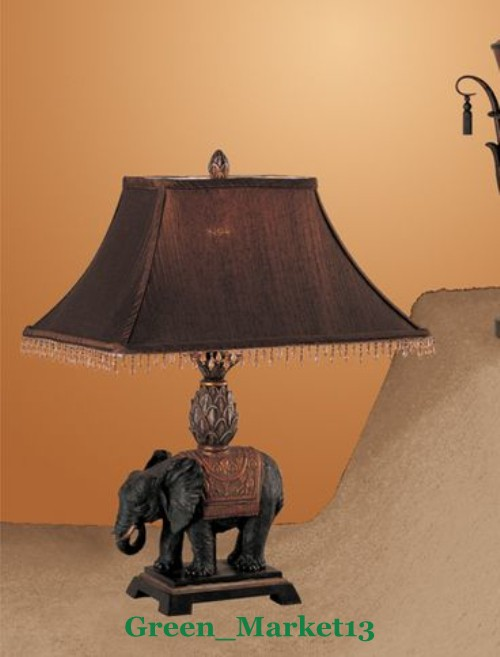 Gmpd 24 H Antique Looking Elephant Inspired Decorative Table Lamp Set Of 2 Ebay