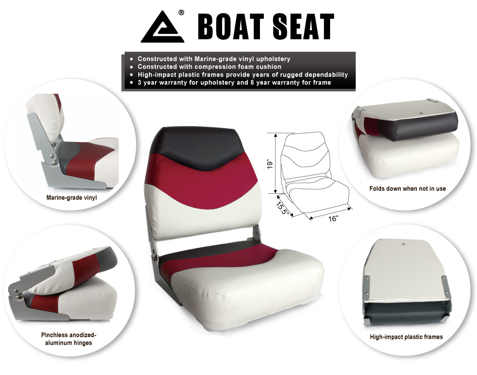 Marine Seat Premium Folding Boat Seat 75129W hot new marine grade Boat Seat