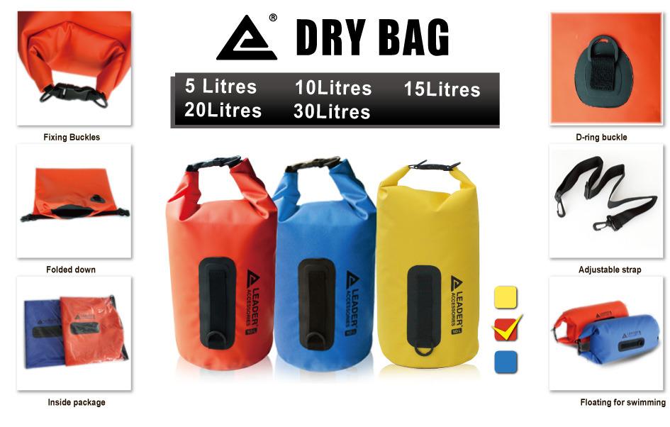 New 40L Orange Waterproof Dry Bag for Kayaking Canoeing Rafting