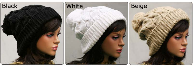 cea220e6d6fb6 Twisted Slouchy Pom Pom Beanie for Men and Women on PopScreen