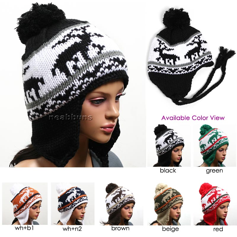 Nordic Peruvian Earflap Beanie Ski Hat Winter Cap P7DR on PopScreen 9236caf3f91