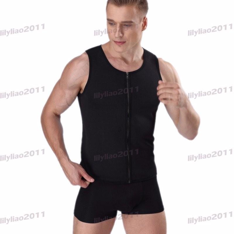 b66129d2bb7 Men Waist Trainer Vest for Weight Loss Sauna Hot Neoprene Body ...