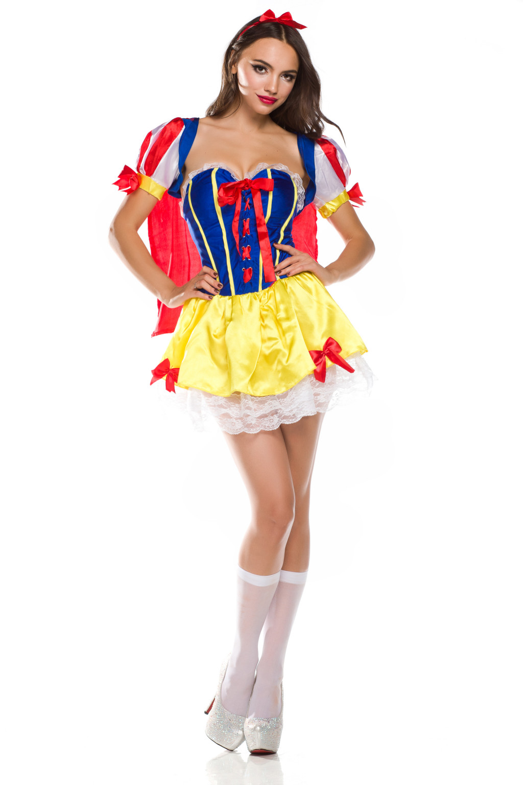 Deluxe Womens Fancy Party Dresses Snow White Corset ...