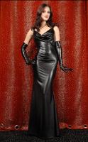 купить вечернее черное длинное платье.
