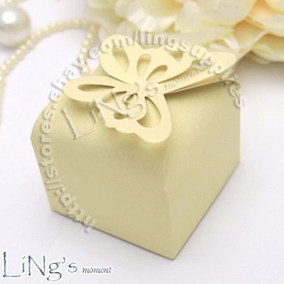 Butterfly Pattern Favour Gift Box Bomboniere Boxes Wedding Baby Shower