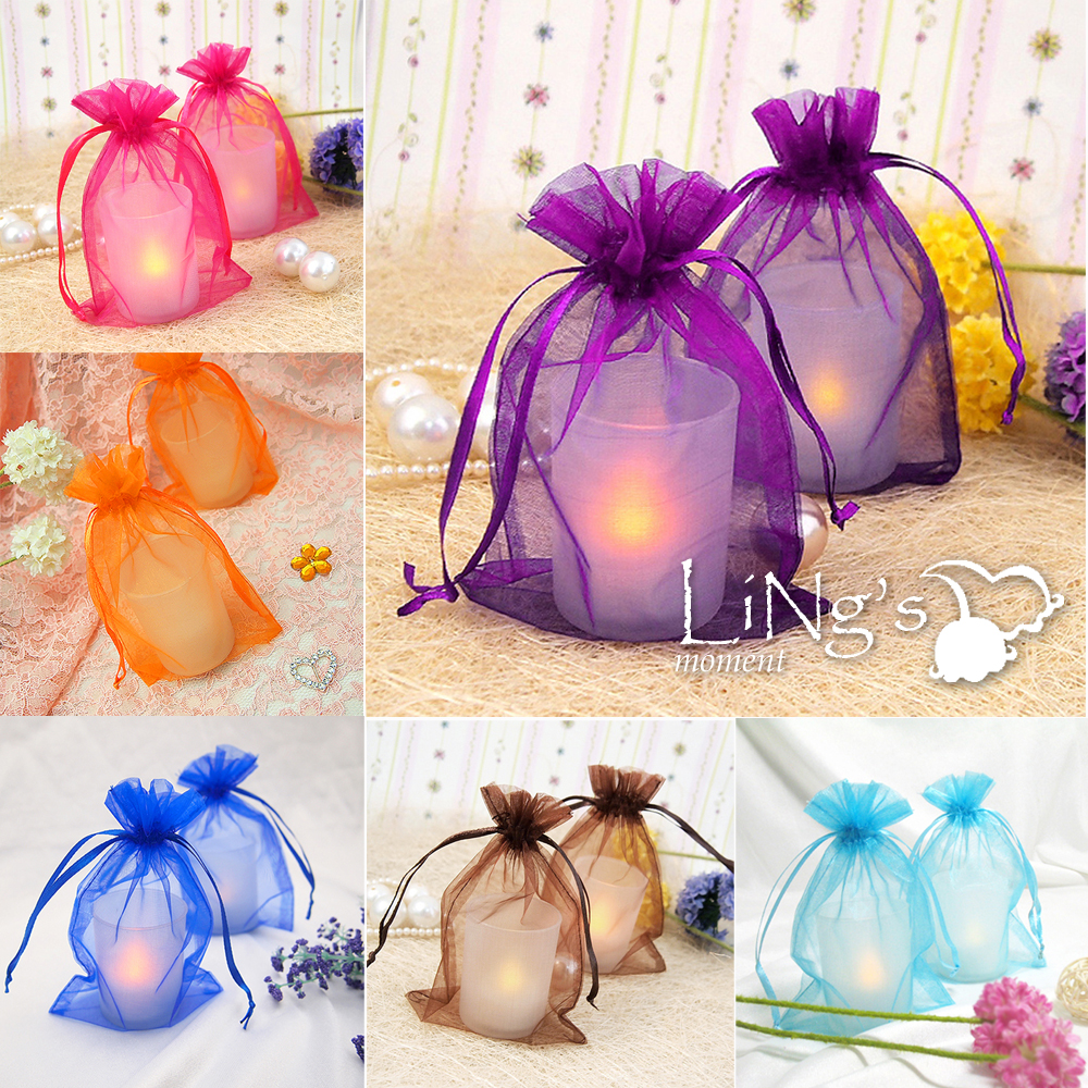 Engagement Party Gift Ideas: 100 Pieces Sheer Organza Wedding Party Favor Decoration