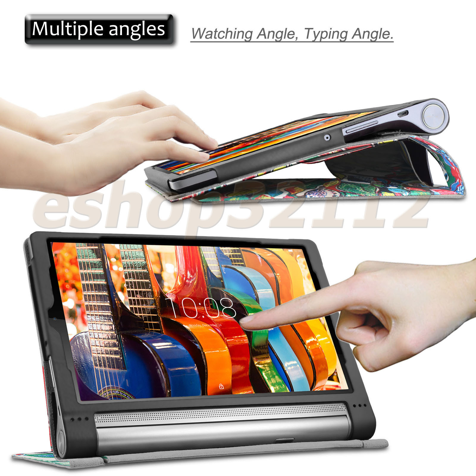 new products 43acf b04d3 Details about Folio PU Leather Case Stand Cover For Lenovo Yoga Tab 3 pro  10 10.1-Inch Tablet