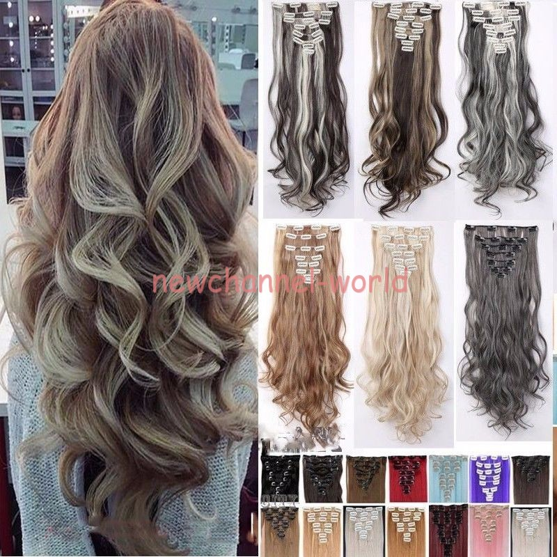 100 Real Natural As Human Hair 8pcs Full Head Clip In Hair