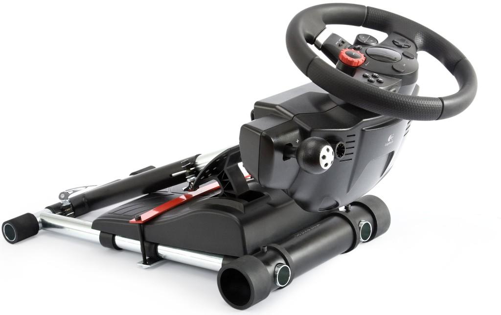v2 racing gaming steering wheel stand pro for logitech gt. Black Bedroom Furniture Sets. Home Design Ideas