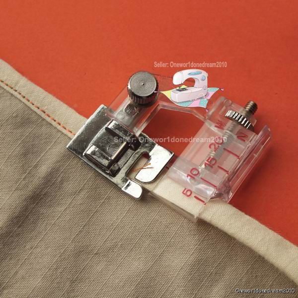 New Snapon Adjustable Bias Binder Foot For Brother Singer Janome Custom Sewing Machine Binding Foot